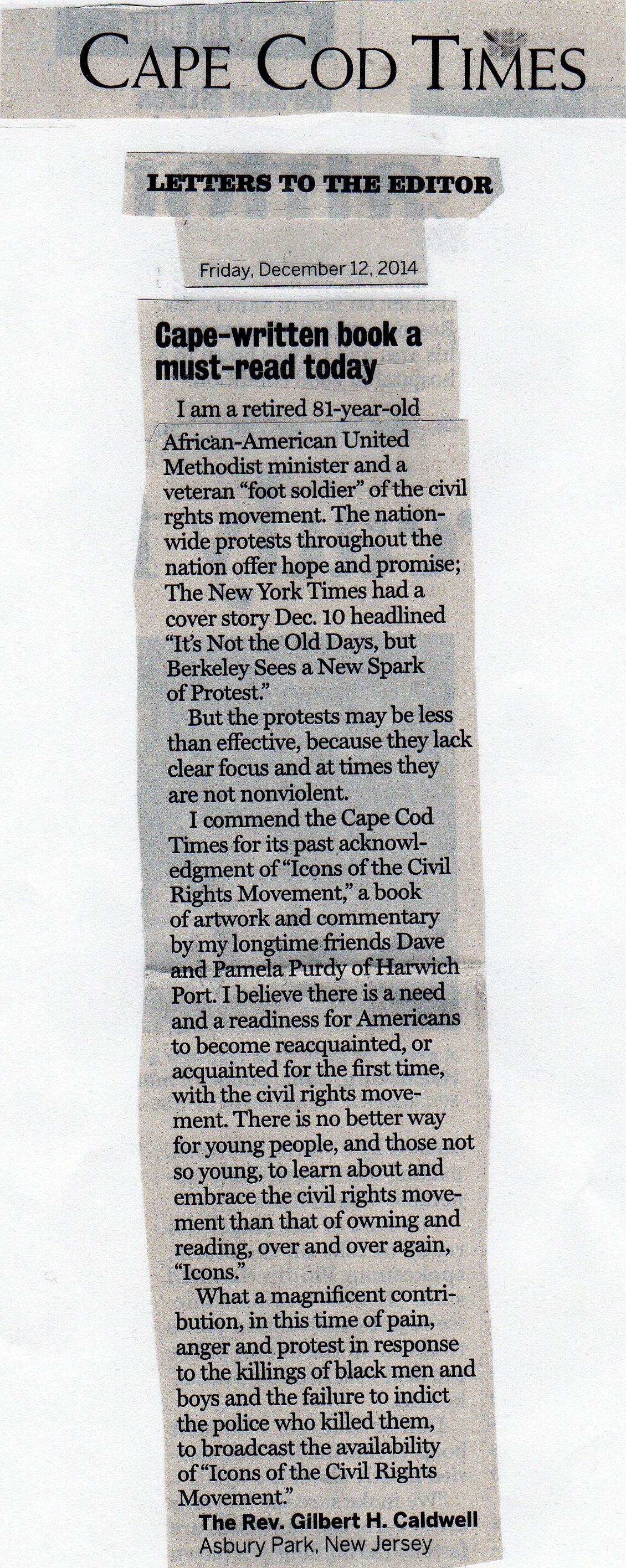 Cape Cod Times Pamela Chatterton-Purdy Art Civil Rights