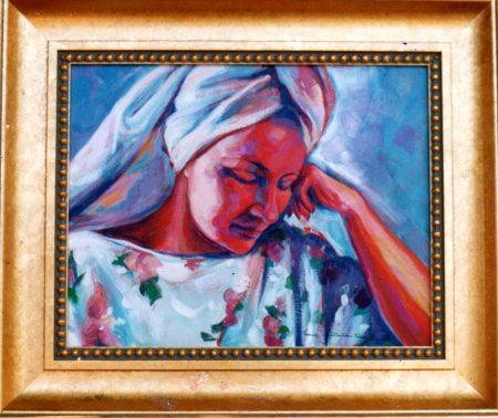 Figure in Towel –SOLD